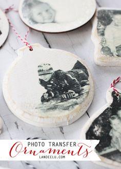 Photo Transfer Christmas Ornaments | landeelu.com