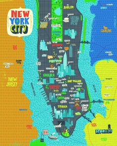 I love that this shows some of the attractions in each neighborhood & borough.