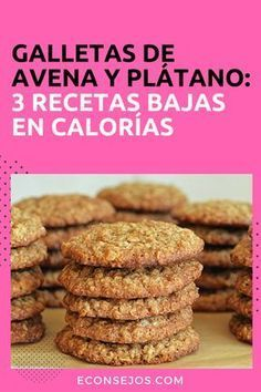 3 different recipes to make oatmeal and banana cookie - A healthy snack - Oatmeal Banana Cookies - # Gourmet Recipes, Sweet Recipes, Cookie Recipes, Dessert Recipes, Healthy Cookies, Healthy Desserts, Healthy Recipes, Protein Cookies, Cookies Light