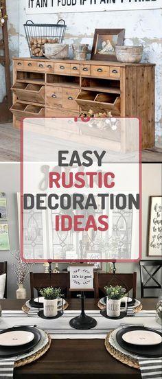 Brilliant Rustic Home Design #rustichomedecor #rustichomedesign Rustic Home Design, Diy Rustic Decor, Rustic Theme, Farmhouse Decor, Diy Home Decor, Things To Come, House Design, Decoration, Simple
