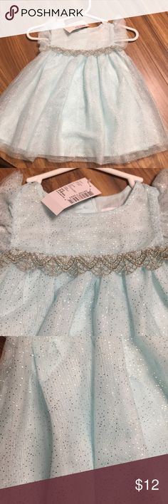 NWT! Children's place dress Size 3/6 months. Color is crystal mint. Cute spring dress The Children's Place Dresses Casual