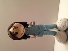 Give a nurse a special gift. Handmade fofucha Doll is made using foam sheets. She is handmade. Can be customized. Like hair color, uniform color. eye color. She stands at 12 inches tall. would make a great gift, decor. to order visit my website www.fofuchas.org #Nurse #fofuchas #crafts