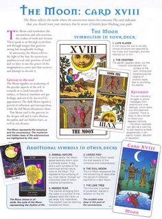 The Moon, Major Arcana Tarot Card Spreads, Tarot Cards, Tarot Significado, Tarot Astrology, Tarot Major Arcana, Tarot Card Meanings, Angel Cards, Oracle Cards, Card Reading