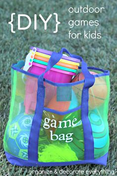 DIY Outdoor Games for Kids - Organize and Decorate Everything
