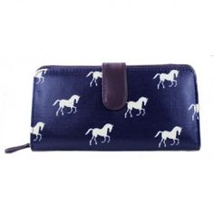 Horse Design Wallet - Navy Blue