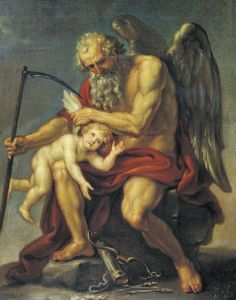 Saturn Cutting off Cupid's Wings with a Scythe (1802) by Ivan Akimov (Tretyakov Gallery)