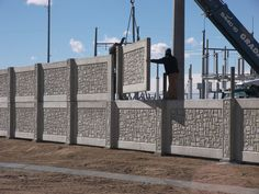 Security Fences provide safety and protection. Get the best of both worlds with AFTEC precast concrete fences!!  #Security #ConcreteFence