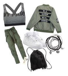 """lässiii"" by kiiit-thy on Polyvore featuring Ivy Park, Chicnova Fashion, Faith Connexion, NIKE and H&M"