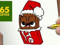 COMO DIBUJAR CHOCOLATE PARA NAVIDAD PASO A PASO: Dibujos kawaii navideños - How to draw a Chocolate
