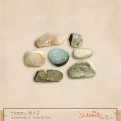 Stones, Set 2   CU/Commercial Use #digital #scrapbook #design tools at CUDigitals.com #digitalscrapbooking