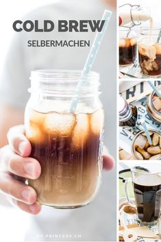 Cold Brew Coffee selbermachen Iced Latte or rather Cold Brew Coffee? You can easily make your own coffee – ice-cold! Cold Brew Kaffee, Make Your Own Coffee, Iced Latte, Carbohydrate Diet, Steak Recipes, Healthy Life, Smoothie, Brewing, Mason Jars