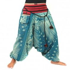 Harem pants with ethno design