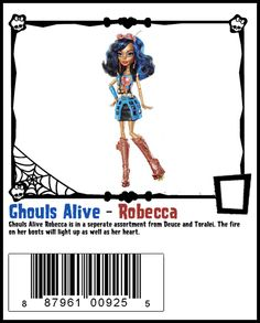 Ghouls Alive Wave 2 Robecca Steam - Monster High Doll Checklist