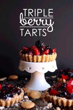 Triple Berry Tarts