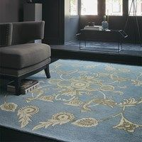 Wedgwood Persia Blue 37718 hand-tufted rugs made with Wool. Rug Direct, Red Carpet Runner, Carpet Colors, Blue Rug, Wedgwood, Rugs, Contemporary Rug, Hand Tufted Rugs, Printed Curtains