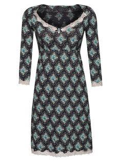 Vive Maria Blue Garden Nachthemd schwarz Allover-Print Damen Wäschesets, Pyjamas & Nachtwäsche