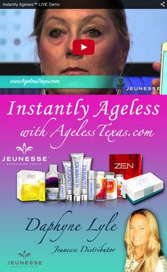 Instantly Ageless and Jeunesse Independent Distributor located in Dallas, Texas. Buy Instantly Ageless or join our team as a distributor / wholesaler. Independent Distributor, Join Our Team, Texas, Skin Care, My Love, Live, Products, My Boo, Skincare