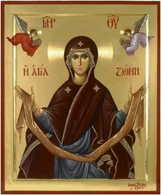 Full of Grace and Truth: The Holy Belt (Zoni) of the Theotokos, and Vatopedi Monastery Religious Icons, Religious Art, Byzantine Art, Byzantine Icons, Best Icons, Holy Mary, Blessed Virgin Mary, Orthodox Icons, Blessed Mother