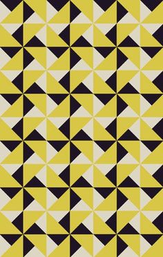 This is a block repeat pattern. I like this pattern as it only uses triangles.