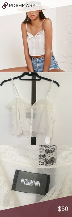 Reformation Tandy Top NWOT. Never worn and in perfect condition. Reformation Tops Crop Tops