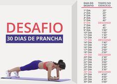 Desafio fitness propõe 30 dias de prancha para definir o abdômen