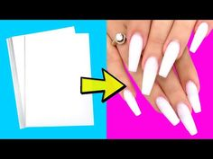 16 AWESOME NAIL HACKS YOU WILL DEFINITELY LIKE - YouTube 5 Min Crafts, 5 Minute Crafts Videos, Diy Crafts Hacks, Diys, Fake Nails For Kids, Nail Art Designs Videos, Nail Polish, Simple Nail Designs, Nail Art Hacks