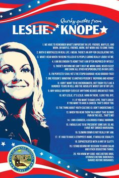 Leslie Knope's Quirky quotes poster Inspired by Parks and Recreation (24 x 16 inches) Parks And Recreation, Parks And Rec Quotes, Parks And Rec Gifts, Best Friend Poems, Pyramid Of Greatness, Leslie Knope Quotes, Parcs And Rec, Beautiful Tropical Fish, Netflix