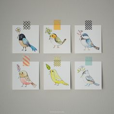 If these weren't so expensive, I'd buy one! Love! Original watercolor paintings by {JooJoo}, via Flickr