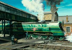 Southern Railway Merchant Navy Class 'Union Castle' at Salisbury Station by George Heiron