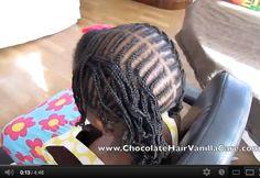 Learn to Cornrow Using Box Braids (VIDEO) | Chocolate Hair / Vanilla Care