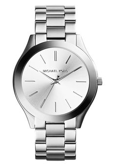 Michael Kors SLIM RUNWAY - Watch - silver-coloured for £134.99 (02/12/16) with free delivery at Zalando