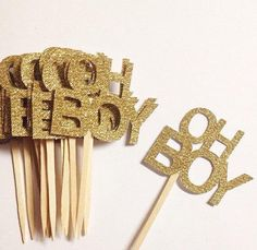 "Oh Boy Gold Glitter Baby Shower Cupcake Toppers - <a href=""http://babyshowercupcake-toppers.com/oh-boy-gold-glitter-baby-shower-cupcake-toppers/"" rel=""nofollow"" target=""_blank"">babyshowercupcake...</a>"