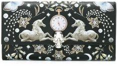 Alexander McQueen Nocturnal print continental wallet