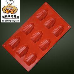 DIY Shell Shaped Silicone Cake Mold /Silicone Chocolate/Madeleine mold /Kids Christmas bakeware