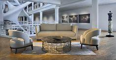 ADRIANA HOYOS BOLERO Collection #livingroom #luxury #cocktailtable #design   Available at NIU Urban Living   www.liveniu.com