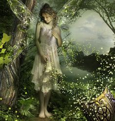 .Glowing fairy with pixie dust