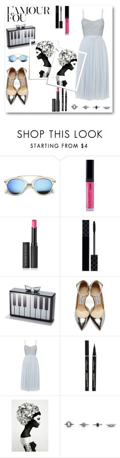 """""""L'AMOUR FOU // itsybitsy62"""" by itsybitsy62 ❤ liked on Polyvore featuring Le Métier de Beauté, Gucci, Love Bravery, Jimmy Choo, Needle & Thread and New Look"""