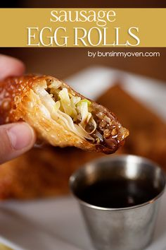 Sausage Egg Roll Recipe from bunsinmyoven.com - these are the only reason my husband stays married to me! ;)