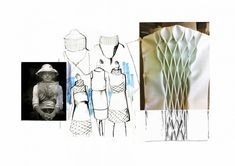Fashion Sketchbook - smocking sample & fashion sketches; fashion design portfolio // Kanrawee Vechviboonsom