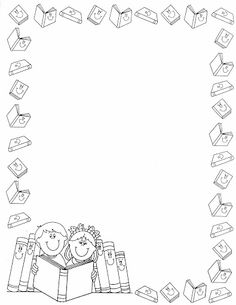 Back to School ATC card borders Boarder Designs, Page Borders Design, Borders For Paper, Borders And Frames, Colouring Pages, Coloring Books, Kreative Jobs, Page Boarders, Portfolio Kindergarten
