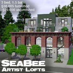 SeaBee Artist Lofts - 3br, 2ba, CC Free by mangoesandlimes - The Exchange - Community - The Sims 3