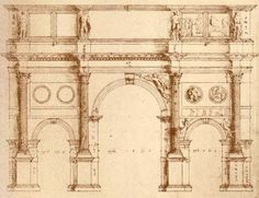 Turn-of-the-Centuries: The Exploratory Drawings of Andrea Palladio Paper Architecture, Architecture Drawings, Architecture Portfolio, Classical Architecture, Historical Architecture, Architecture Details, Andrea Palladio, Arch Of Constantine, National Building Museum