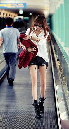 V-Neck Long Sleeve Solid Color Women's Cotton T-ShirtT-Shirts | RoseGal.com