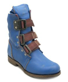 Blue Kraft Leather Stif Boot | Daily deals for moms, babies and kids