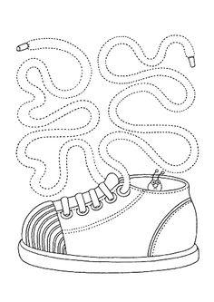 Графомоторика: проведи дорожки. Обувь