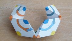 Fold the kaleidocyle model to a circle and glue