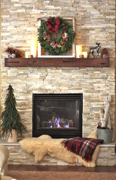 I'd like to have a mantle installed on my brick fireplace wall. Also, get slate to put on top of brick raised hearth.
