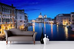 Night Time Venice Canal Mural