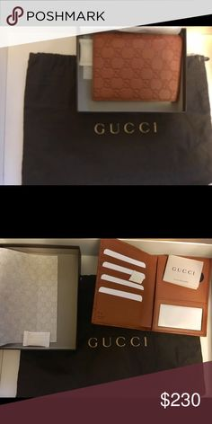 "Gucci 346079 guccissima passport wallet holder Brand new with original tags and packaging Purchased from the Gucci store in Florence Italy on vacation , it has the serial stamp number to verify it is authentic this is a ""gucci 346079 saffron tan leather guccissima passport Holder bifold Wallet"" Gucci Bags Wallets"
