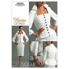 Vogue Patterns V8355 Misses' Top and Skirt, Size AA (6-8-10-12) Vogue Patterns http://www.amazon.com/dp/B000PJGKKK/ref=cm_sw_r_pi_dp_ysBrvb09JDBTJ